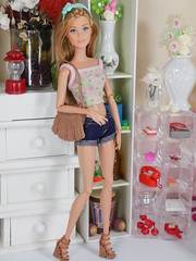 Barbie hippie in shorts two (modcasey) Tags: barbie hippie dolls for photo challenge divas theme