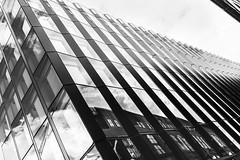 Aker Brygge - architecture (Mona_Oslo) Tags: akerbrygge architecture blackandwhite lines buildings reflections clouds oslofjorden monajohansson monochrome