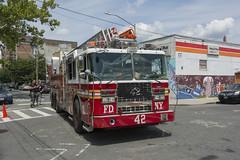 FDNY Ladder 42 (Camera-junkie) Tags: fdny thebronx firetruck fire photography photojournalism nikon nikond7100 nikonafsdxnikkor18200mmf3556gedvriilens