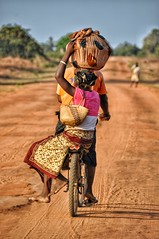 Bike taxi in northern Mozambique.