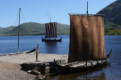 Longboats at the Viking Museum at Borg (Geoff Buck) Tags: norway lofoten island viking longboat borg