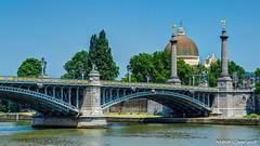 Liège, Belgium: Pont de Fragnée crossing the Muese River (nabobswims) Tags: be belgium bridge fleuve guillemins hdr highdynamicrange ilce6000 lightroom liège meuseriver mirrorless nabob nabobswims photomatix pontdefragnée sel18105g sonya6000 wallonie