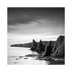 Duncansby Stacks (Christian Seifert) Tags: scotland duncansby uk united kingdom black white monochrome pentax 645d 35mm long exposure coast sea ocean