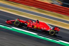 Sebastian Vettel - Ferrari SF71H - Silverstone (E_W_Photo) Tags: sebastianvettel ferrari sf71h silverstone f1 formula1 britishgrandprix2018 motorsport motorracing panning canon 80d 300mmf4l