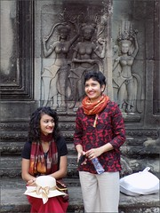 Angkor Wat Indian Sisters 20180202_073142 DSCN2414 (CanadaGood) Tags: asia seasia asean cambodia siemreap angkor angkorwat temple people person fashion sculpture art building architecture archaeology stone canadagood 2018 thisdecade color colour morning hindu aspara devata khmer best