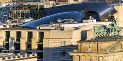 roofs of berlin (bilderkombinat berlin) Tags: ⨀2018 berlin mitte capital roof quadriga city germany europa brandenburgertor eu embassy usa academyofarts sculpture deutschland europe daylight citysights cityscape buildings
