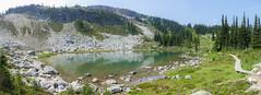 Harmony Glacial Lake, Whistler Mountain, BC, Canada (stevecarney) Tags: harmony hike summer alpine cirque geology whistler mountain glacial lake green torquoise