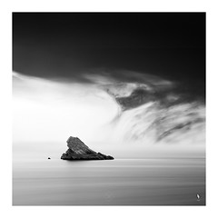 An Inky Sky Overhead (picturedevon.co.uk) Tags: meadfoot beach torquay torbay englishriviera devon uk fineart minimal seascape bw blackandwhite mono le abstract composit ink sky seawater summer grey coast canon nisi wwwpicturedevoncouk
