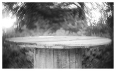 Round and round the round table (leo.roos) Tags: cablereel cabledrum kabelhaspel haspel noiretblanc swirly hugomeyerkinonsuperiorif5cm meyerkinonsuperiori5016 projectorlens projectionlens focusinghelicoidtrioplan10028 exakta darosa leoroos
