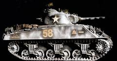 M4A3 Sherman with 105mm howitzer. (Bastiaan21) Tags: tamiya 135 scalemodels135 militaryscalemodels plasticscalemodel modelbuilding