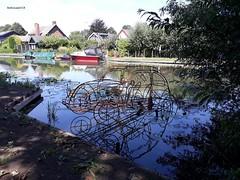 """""""Kever"""" te water... (bcbvisser13) Tags: rivier reflectie kunstwerk dorp village harmelen gemwoerden nederland eu ouderijn"""