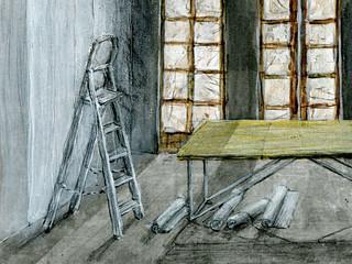 Wolfram Zimmer: Renovation work - Renovierungsarbeit