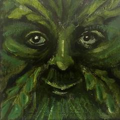 Green Man I (Ronald Hackston) Tags: painting drawing art trees vegetation green man pagan god greenman thegreenman folklore folk folkhorror