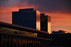 Sunset Off My Balcony (dr_marvel) Tags: houston texas tx greenway greenwayplaza orange balcony