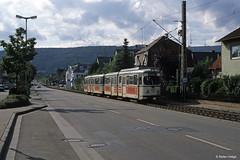 Rhein-Haardt-Bahn 1014+1054 Bad Dürkheim, 09.09.1995 (Tramfan2011) Tags: strasenbahn düwag rheinhaardtbahn rhb 1000mm tram germany deutschland tranvia tramway