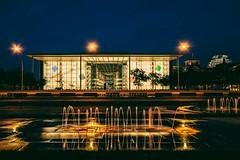 Berlin Summernights (marionrosengarten) Tags: berlin paullöbehaus regierungsviertel langzeitbelichtung longexposure architecture nightshot lights water reflections wet spiegelung le nikon