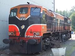 "Irish Rail ""083"" at Inchicore. (Fred Dean Jnr) Tags: irishrail iarnrodeireann dublin september2006 inchicorerailwayworks inchicore locomotive generalmotors electromotivedivision 071class 083"