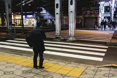 Alone. (Andy @ Pang Ket Vui ( shootx2 )) Tags: tokyo street japan railway train station crossing road fujifilm x100f photography