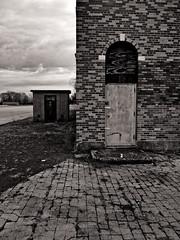 Door No. 1 Or Door No. 2 (EssGee Photography™) Tags: floydbennettfield lumixlf1 newyork travel tourist industrial gatewaynationalrecreationarea doorway door digital decay building brooklyn brick blackwhite blackandwhite artdeco architecture abandoned bw