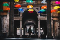 una pioggia di colore (FButzi) Tags: genova genoa liguria italy italia galleria mazzini ombrelli umbrella colored colors man street