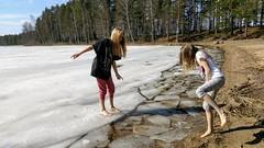 Spring! (m.pertti) Tags: landscape spring kids people ice lake travel water sunny pyhäniemi kihniö pirkanmaa finland twop ngc