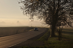 Foggy morning ride to Rehau (christian.riede) Tags: weisdorf hochfranken morning sunset fog mist nebel