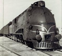 "Iraq Railways - Iraqi State Railways Class PC 4-6-2 streamlined steam locomotive Nr. 502 ""Mosul"" (Robert Stephenson & Co, Newcastle and Darlington 6983 / 1940) at Mosul, 17 February 1943 (HISTORICAL RAILWAY IMAGES) Tags: العراق iraq railways isr steam locomotive train rsh robertstephenson mosul 462"