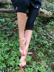 Jogging (newport50) Tags: rednails red barefoot bare woods erotic arched pointing ankles forest jogging pretty fetish foot