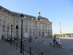 Benches and afternoon shadow, Place de la Bourse, Bordeaux, France (Paul McClure DC) Tags: bordeaux france gironde nouvelleaquitaine july2017 historic architecture