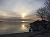 Obscured IMG_5890 (iloleo) Tags: sunrise clouds spring ashbridges lakeontario nature landscape beach reflection iphone toronto