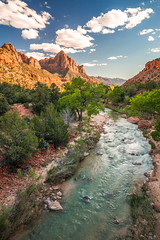 Zion National Park Utah Fine Art Landscape Photography Sunset The Watchman & Virgin River!  Sony A7r & Sony 16-35mm Vario-Tessar T FE F4 ZA OSS E-Mount Lens! The American West!  Elliot McGucken Fine Art Nature Photography (45SURF Hero's Odyssey Mythology Landscapes & Godde) Tags: monument valley west east mittens buttes breaking storm clouds high res fine art photography sunset john wayne ford stagecoach country sony a7r 1635mm variotessar t fe f4 za oss emount lens the american