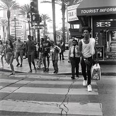 Street Crossing (bongo najja) Tags: orleans new evs mx 35 rolleiflex 400 iso tmax kodak