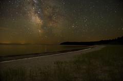 Milky Way Pancake Bay (AnthonyC Photography) Tags: lakesuperior longexposure night startrails stars pancakebay provincialpark milkyway