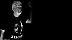 Respect the Chemistry. (Neil. Moralee) Tags: neilmoralee man mature old hard breaking bad lets cook neil moralee nikon d7200 flash chemistry black white monochrome mono bw bandw blackandwhite danger dangerous portrait face self selfy selfie respect dark sinister threatening hemyock devon me shirt tshirt contrast high uplight walter walterwhite drugs meth crystal methamphetamine stimulant nmethyl1phenylpropan2amine abuse addict addiction