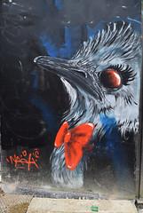 Autruche (HBA_JIJO) Tags: streetart urban graffiti paris animal art france hbajijo wall mur painting oiseau peinture bird naoh urbain autruche charactere
