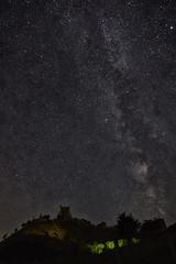 Corfe Castle and Milky Way (paulinuk99999 (lback to photography at last!)) Tags: paulinuk99999 corse castle milky way dorset tokina nightshot explore milkyway stars 1116mm 11mm learning