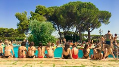 Girl's pool (max832) Tags: chatting fun relax geometria lines linea geometry bellebeutiful bagno bath costume ragazze girls 6s iphone italy italia roma rome sundancesunday piscina pool party estate summer