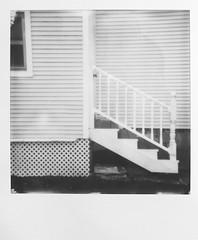 Stairs and a window. (nicksaw62) Tags: bw blackandwhite wide instax fuji