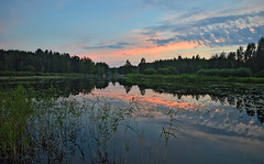 Beautiful summer evening. Time is 22:47. 13.7.2018, Lake Päijänne, Sysmä, Finland (L.Lahtinen (nature photography)) Tags: finland summer sunset reflections sysmä päijänne beauty clouds evening nikond3200 nature night naturephotography island landscape calm suomi järvimaisema järvi maisema goodnight kesä heijastukset tyyni taivas sunlight hotweather landscapephotography magicnature