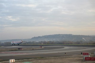 Taxiing on the tarmac, Barajas Airport, Madrid, Spain