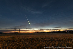 Twilight fireball (quayman) Tags: meteor fireball twilight sky clouds chapelofgarioch aberdeenshire scotland