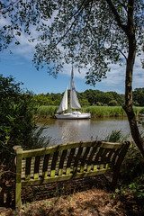Seat on the broads-7939 (Delboy Studios) Tags: norfolk seat sail water boat tree