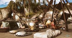 Beach life (NatG loving the light) Tags: brocante chezmoi doe dubairld eleventhhour foxes insurrektion jian kalopsia keke littlebranch merak peaches pilot pocketgacha revival stockholmlima sway´s uber zenith secondlife virtual beach beachlife yoga deco outdoors avatar mesh 3d