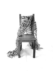 news texture, chair (Ines Seidel) Tags: bw blackandwhite sw schwarzweiss newspaper texture detail news pattern machinestitching zeitung zeitungspapier papier gewebe