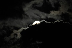 Peek-a-Boo Moon (@FunkyAppleTree) Tags: moon lunar universe waxing gibbous illuminated cosmos london fullmoon space astro astronomy astrophysics astrophotography clouds sky night nighttime cloudy