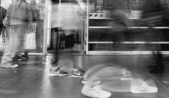 Foot traffic (SemiXposed) Tags: feet shoes people melbourne cbd city australia sony walking blur long exposure movement