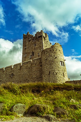 Flattered By Green And Blue (Ronny Darko) Tags: summer grass green clouds castle stronghold tower sommer grad schloss turm sonnig sightseeing kiillarney ireland irland warmth waerme breeze outpost