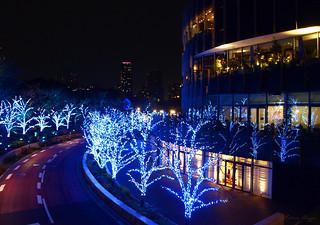Tokyo Midtown with winter illuminations