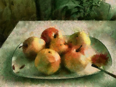 Яблоки палитрой Сезанна / Des pommes dans la palette de Cézanne / Apples in the Cezanne palette (tatiana.ch) Tags: натюрморт яблоко стилизация фотоживопись натюрмортсфруктами фото2012 dap painting phototopainting ownphoto apple stilllife naturemorte cezanne