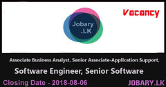 Associate Business Analyst,Senior Associate-Application Support,Software Engineer,Senior Software – Synapsys Ltd (Jobary.LK) Tags: information technology private jobs dinamina job vacancies kandy sunday observer top 2018 sri lanka xpress